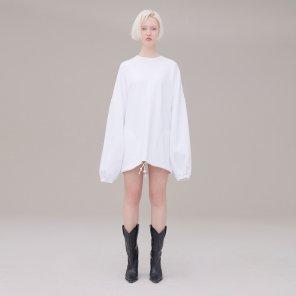 Over size sweat shirt 001 White