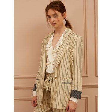 [까이에] Stripe blazer