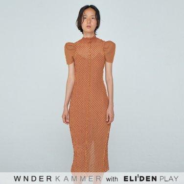[분더캄머:WNDERKAMMER] 20SS Curved Arm Coloration Dress Dark Orange (WK0S4-CCOP020)