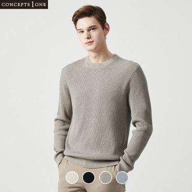 남성 크루넥 스티치 스웨터 (10050502)