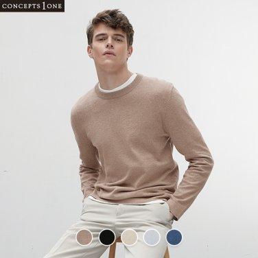 남성 코튼 캐시미어 크루넥 스웨터 (10050504)