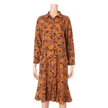 낙엽 패턴 셔츠형원피스(715-57284)