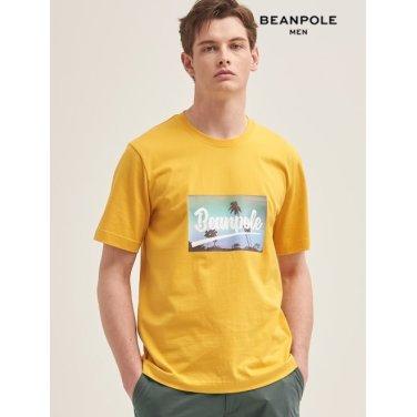 S/S 머스터드 포토 프린트 반소매 티셔츠(BC9442C22G)