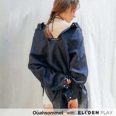 [우아솜메] Ouahsommet Linen Peekaboo Shirts_NV (OBFSH003A)