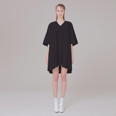 V-NECK dress detail 001 black
