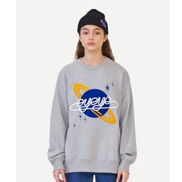 [아이아이] SPACE EMBROID FLEECE LINED SWEATSHIRT_GREY (EEON3WSR02WE)