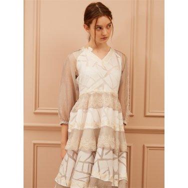 [까이에] Layered Embellished Tulle Lace Dress