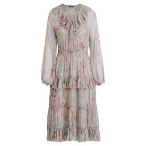폴로 랄프 로렌 플로랄프린트 실크 드레스(WMPODRSN6810078E35)