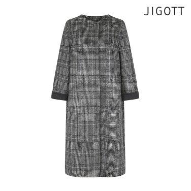 라운드넥 오버사이즈 울 코트 JIAE0CT50