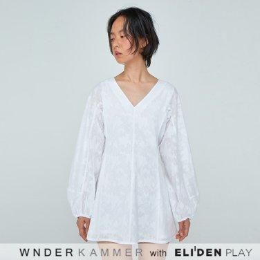 [분더캄머:WNDERKAMMER] 20SS Shirring Sleeve Mini Dress White (WK0S3-SSOP010)