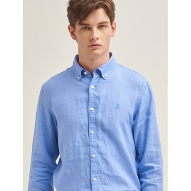 카이 블루 리넨 솔리드 옥스포드 셔츠 (BC9364A07Q-JJ)