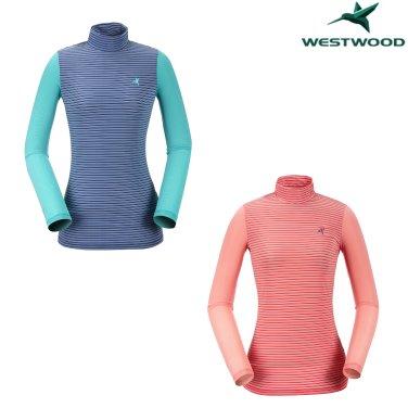 여성 스트라이프 반넥 냉감 티셔츠 WI2WTTR432