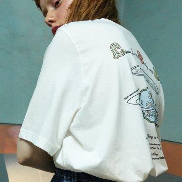 유니버스 프린트 티셔츠 (HTBACKLSD)