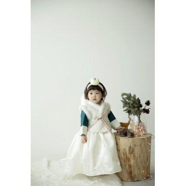 [살롱드샬롯]숏배자+모리앙 아동 한복 set