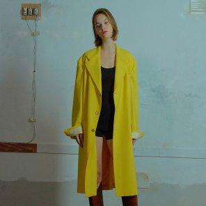 Manish long jacket 005 Yellow