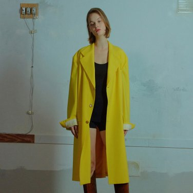Manish long jacket 005 Yellow
