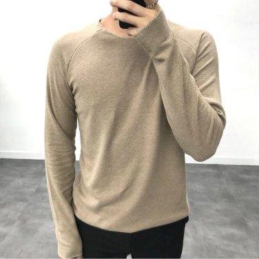 남성 9컬러 소프트 쭈리 나그랑 라운드 티셔츠_T0396