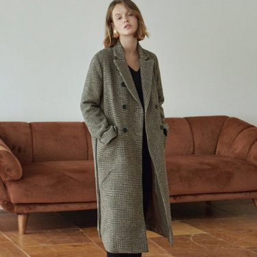 [DEANS] HOUND ROBE DOUBLE LONG COAT_BROWN