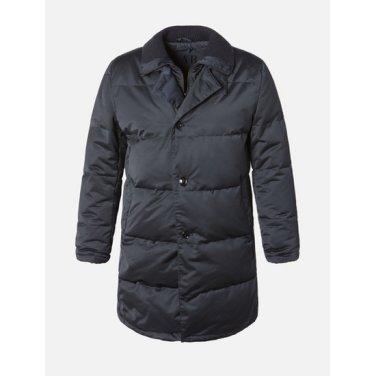 [LAB] 네이비 사틴 니트 칼라넥 구스 다운 코트 (PC8937CT2R)