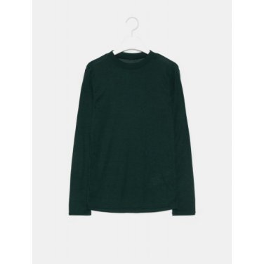 여성 그린 솔리드 베이직 라운드넥 티셔츠 (329841LY5M)