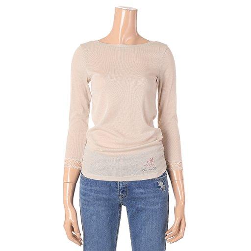 [여성]골지 보트넥 7부 기본 이너 티셔츠(T192MTS132W)