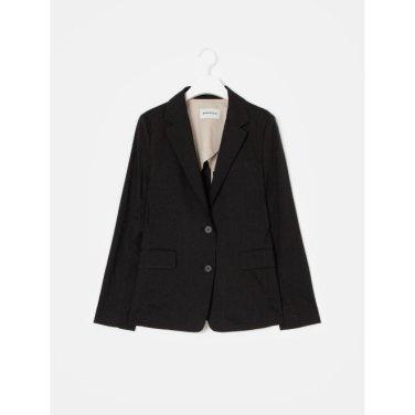 블랙 리넨 베이직 싱글 재킷 (BF9311C015_)