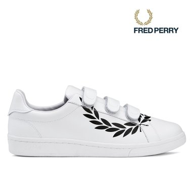 FRED PERRY B721 프린티드 로렐 레더 벨크로(200)SFPU1834237-200