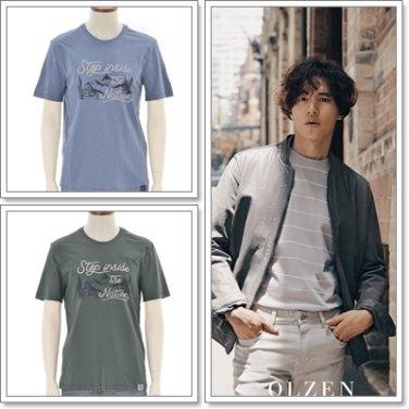 올젠 그래픽 시리즈라운드 티셔츠 ZAX3TR1175