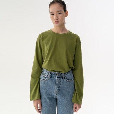 18W PEACH BASIC T-SHIRT (OLIVE GREEN)