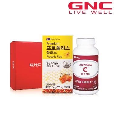 [GNC]항산화건강세트(츄어블비타민C100(125)+프로폴리스(60))