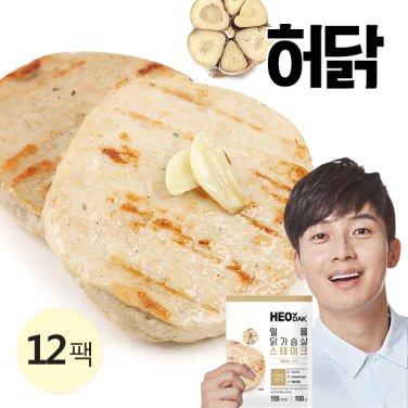 [특가] 일품 닭가슴살 스테이크 갈릭 100g 12팩