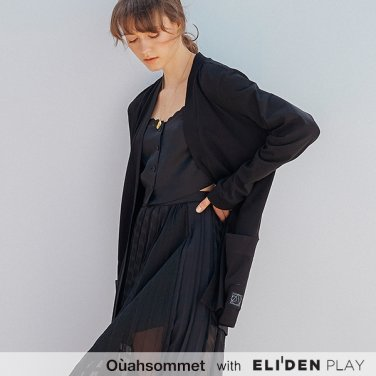 [우아솜메] Ouahsommet Two-way Top Cardigan_BK (OBFTS009A)