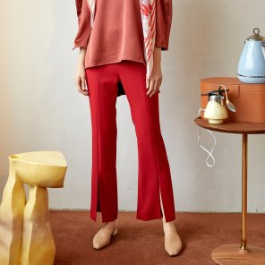 Rovani Slit Trouser_Brick Red (JC19FW2RovaTRBR)