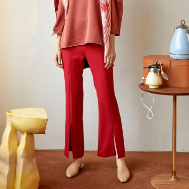 Rovani Slit Trouser_Brick Red (JC19FW2RovaTRBR)