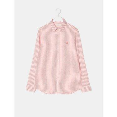 19SS  [SLIM] 오렌지 리넨 스트라이프 셔츠(BC9364A308)