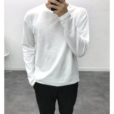 남성 기본 필수 컬러 슬라브 라운드 티셔츠_T0395