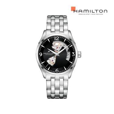 H32705131 재즈마스터 오픈하트 42mm 블랙 메탈 남성 시계