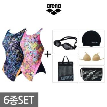여성 원피스 수영복세트 AUSPL06BBF