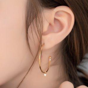 0.12ct Cubic Zirconia Hoop Earrings (HB19E1268A)