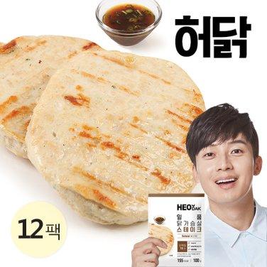 [특가] 일품 닭가슴살 스테이크 불고기 100g 12팩