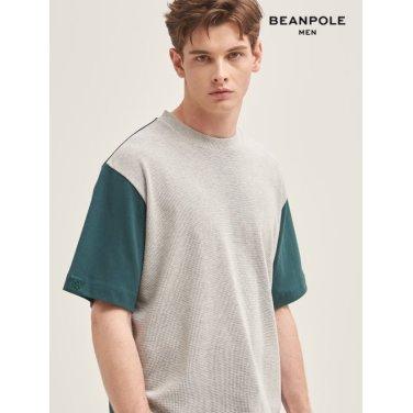 S/S 그레이 와플 배색 오버사이즈 티셔츠(BC9342A313)