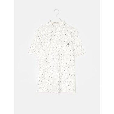 19SS  화이트 도트 피케 칼라 티셔츠(BC9342A161)