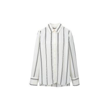 스트라이프 실키 셔츠 (ITJ9BBL500)
