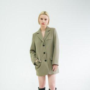 Anti-wrinkle Loose Fit Jacket Khaki(BSJK320_01)