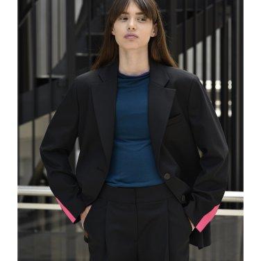 [아바몰리] 1015 Tessa single jacket (black)(19FWAVA05E)