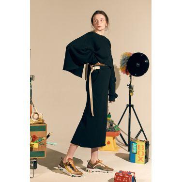 [테이즈] Vine Zuri Skirt_Black