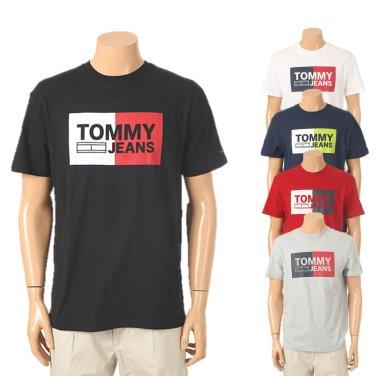 남성 코튼 플래그 로고 반소매 티셔츠 TJMT1KOE25A0