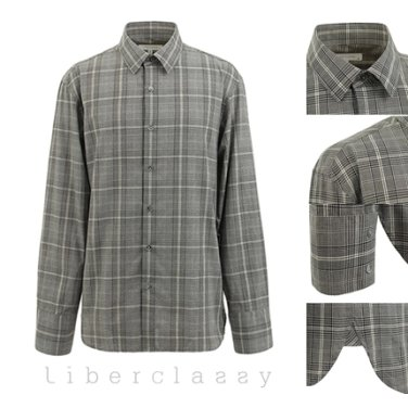 리버클래시(DJ) 그레이 글렌체크 오버핏 셔츠 LEW31158