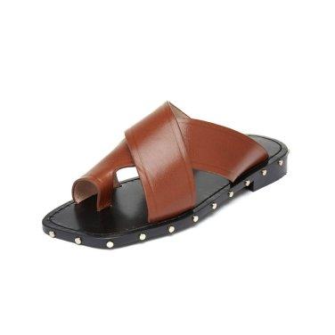 X-strap leather square sandal(camel) DG2AM19075CML / 카멜