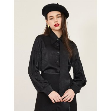 [에프코코로미즈] un long collar blouse_BK